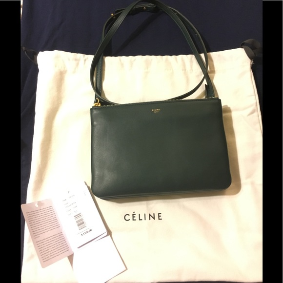 Final Price🎉🤑Rare Dark Green Celine Trio🔥 c0a4ccdd93e19