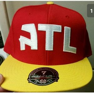MITCHELL & NESS ATLANTA HAWKS FITTED HAT SIZE 7