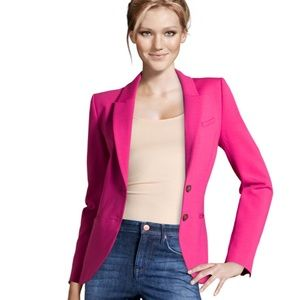 H&M Hot Pink Double Button Blazer