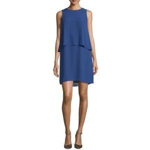 BCBGMaxAxria Briyana Layered Blue Shift Dress