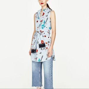 Zara dress with stripes & flowers