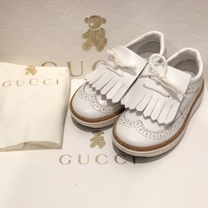 Gucci Toddler/Children Unisex Leather Golf Loafers