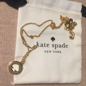 NWOT Kate spade logo necklace