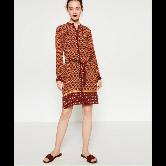 c3b0db5b8a4 Zara Dresses | New Multicolor Tunicdress With Beltlarge | Poshmark