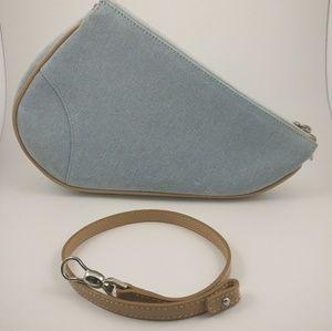 *sold* Dior denim mini saddle bag.