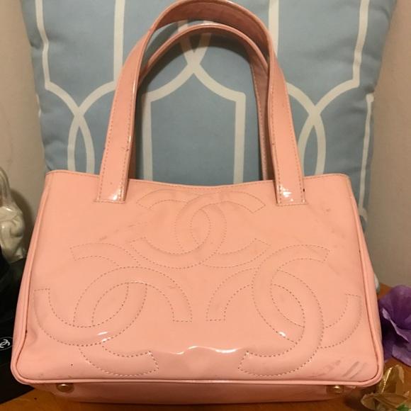 3891ef9b1aa6 SALE❤ Chanel Tote cc monogram baby Pink 💕