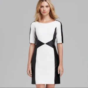 {LAUNDRY BY SHELLI SEGAL} NWT white/black dress