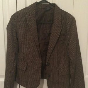 Jackets & Blazers - brown plaid blazer