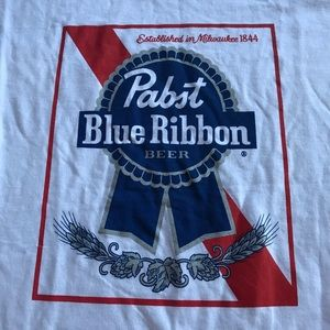 Bundle, Pabst Blue Ribbon Bandana/ Shirt New Set