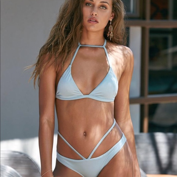 a20926d8e259f La Hearts Other - LA Hearts Choker Bralette Bikini top/bottom