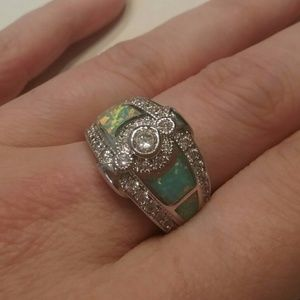 Jewelry - Stamped 925 Size 7.5 Opal Ring