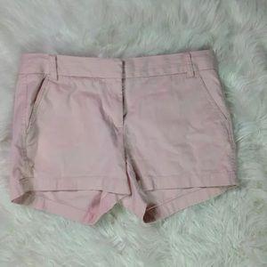 ".CREW Womens Light Pink 4"" Cotton Chino Shorts 8"