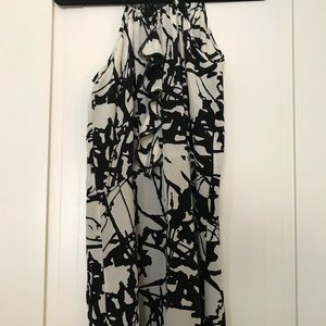 Black and white print dress. Perfect condition!