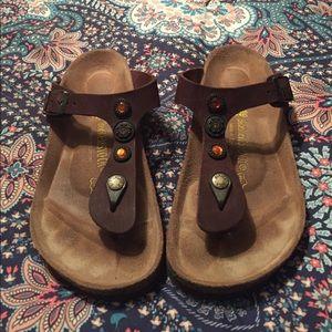 Rare Birkenstock jeweled thong sandals Sz 39