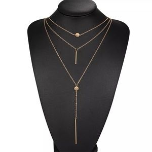 $10❤Sexy Gold Plated Alloy 3 Layer Charm Necklace