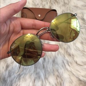 Authentic rayban round metal