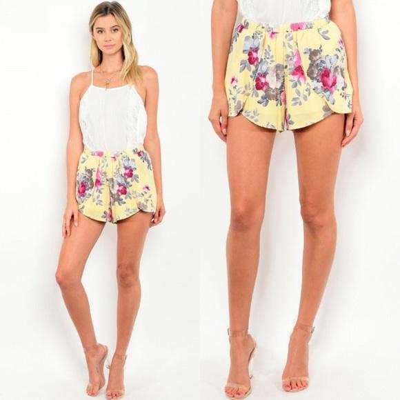 Shorts - New yellow floral shorts