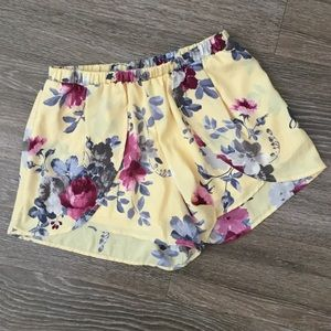 Pants - New yellow floral shorts