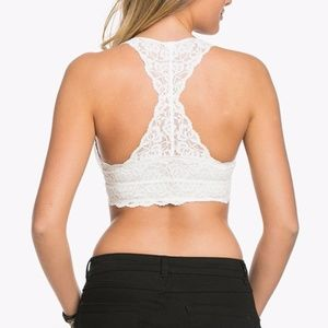 56823060f10 Intimates   Sleepwear - Wishlist XL Lace Racerback Bralette Ivory