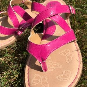 Perfect summer pink Bornsandals.  New. Never worn.
