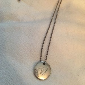 Tiffany's authentic A initial necklace silver