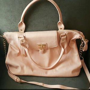 Ethereal pale pink handbag