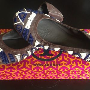 Tory Burch Beaded Flats