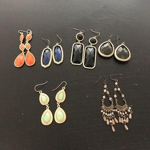 Bundle of 6 pairs of earrings