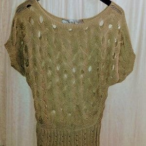 Knit hole sweater