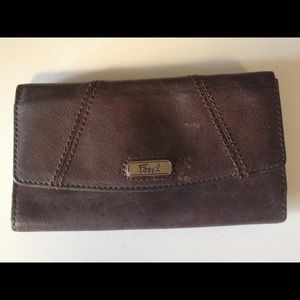 Fossil wallet full size brown leather