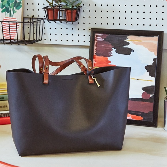 0ad313f1a Fossil Handbags - NEW Fossil Rachel tote black brown