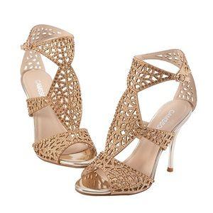 Beautiful gold heels