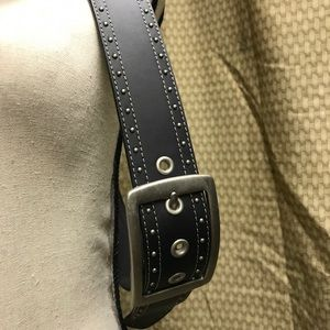 up Accessories - NWOT Black leather belt.  Size Large