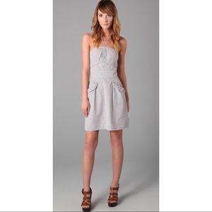 Juicy Couture Seersucker Halter Dress