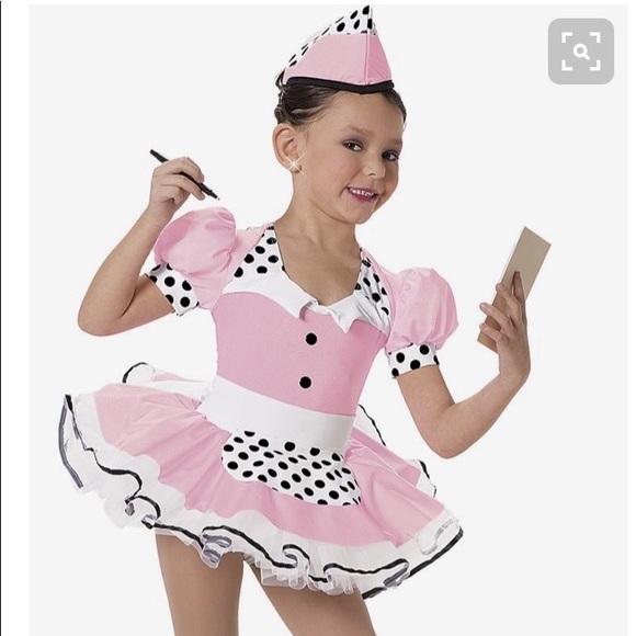 costumes art stone girls waitress dance costume poshmark