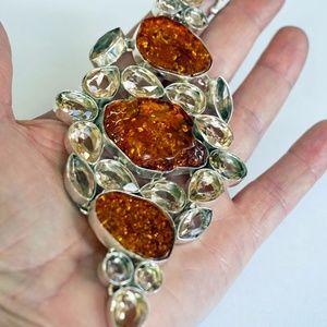 Jewelry - AMBER 925 SILVER SMOKY QUARTZ BRACELET
