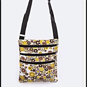 Handbags - Floral Cross Body Bag