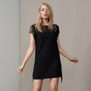 Cooper & Ella Leah Fringe Dress in Black
