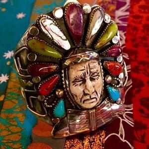 Indian Chief Cuff by Francisco Gomez