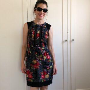 ASTR Dark Floral Sleeveless Dress Small NWOT