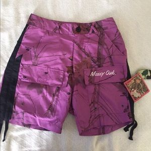 Mossy Oak women's purple shorts
