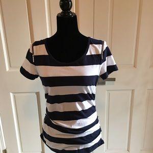 Michael Kors  top with zip down shoulders