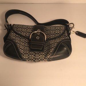 COACH G042-6818 Handbag Black/Gray Shoulder Bag