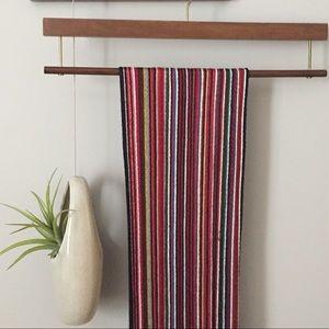 Thin striped scarf