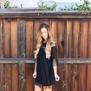 Dresses & Skirts - black mesh babydoll dress
