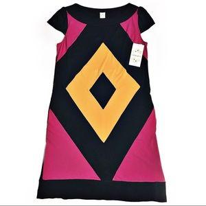 Sangria Colorblock Shift Dress