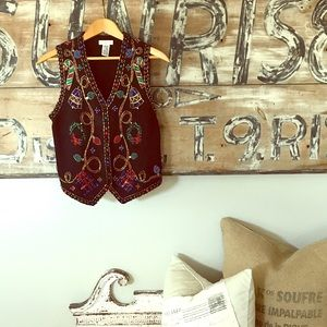 Sweaters - Ugly Christmas sweater party vest beaded
