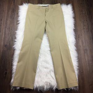 Theory Khaki Wide Leg Cropped Pants Size 8