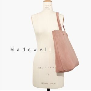 NWOT Madewell suede transport tote in pink