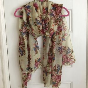 Accessories - Floral Print Scarf